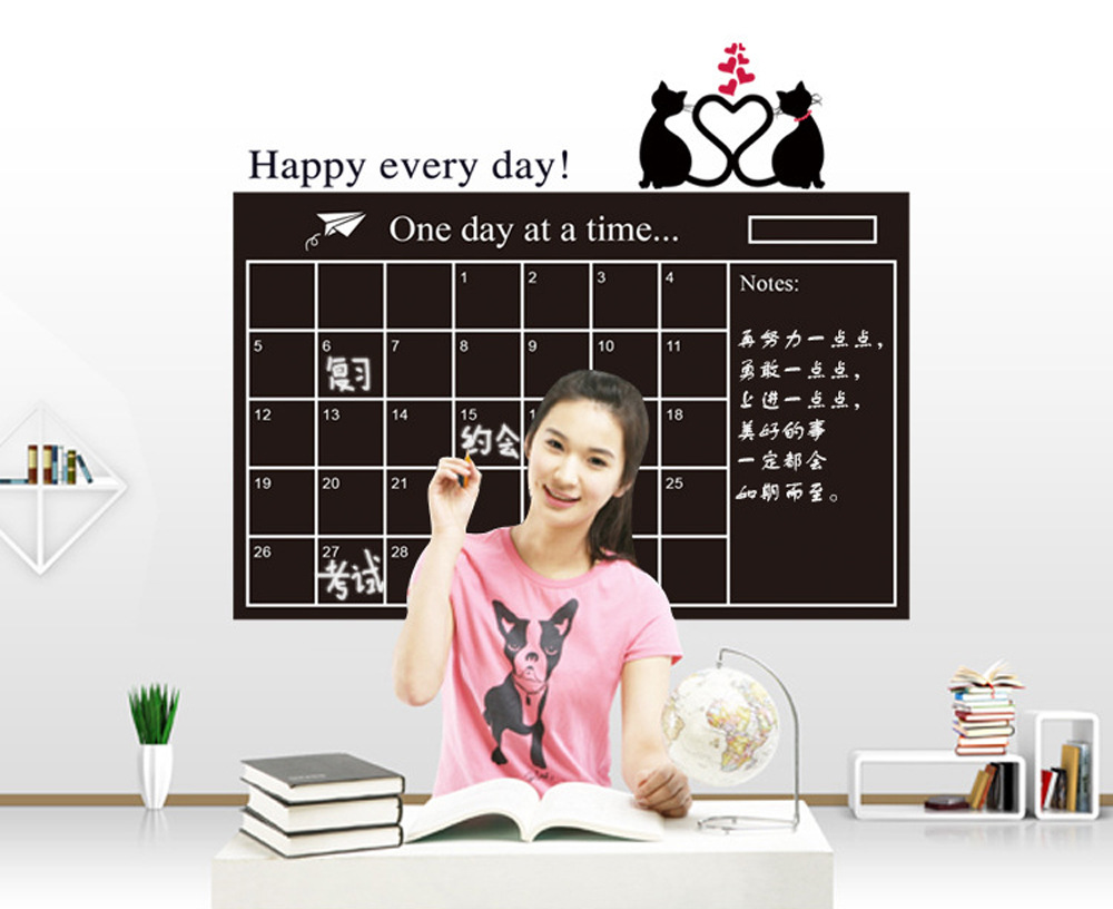 Painting writing stickers wholesale 60 * 95cm blackboard teaching soft PP stickers removable wall stickers creative office christmas cartoon owl removable nursery animal wall stickers