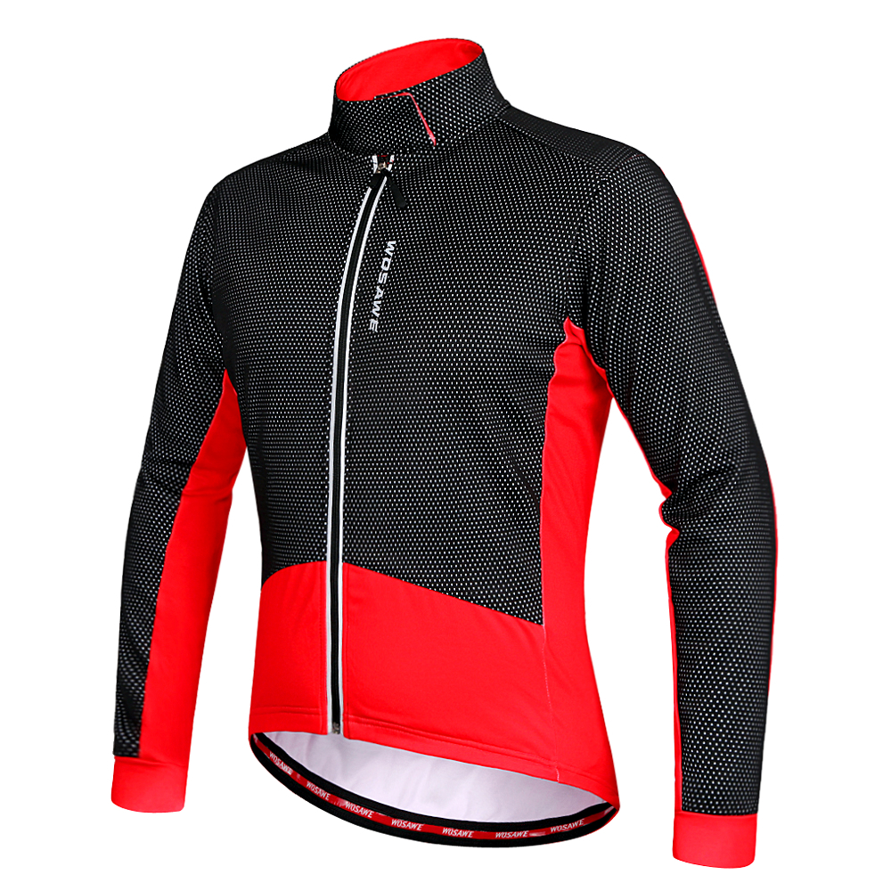 Men Thermal Riding Jacket Black Cycling Coat Outfit Outdoor Sports Accessory 1PC