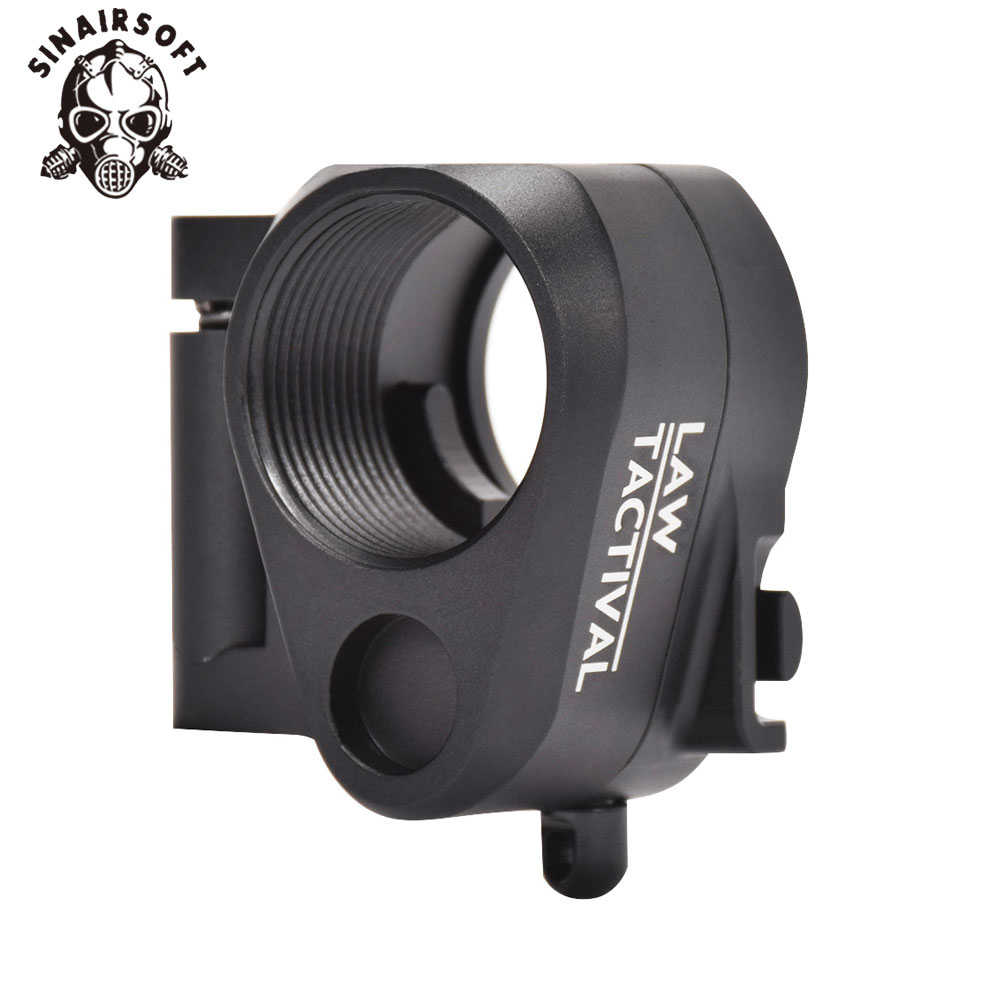 WET Tactische AR Black Folding Stock Adapter Fit M16 M4 SR25 Series GBB (AEG) voor Airsoft Paintball Schieten Jacht Accessoires