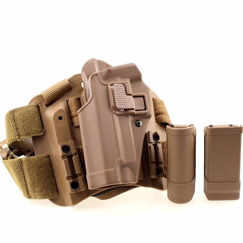 Image 3 - Sig Sauer P226 Gun Left / Right Hand Leg Holster w/ Magazine Flashlight Pouch Military Hunting Airsoft Air Gun Carry Holster-in Holsters from Sports & Entertainment