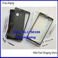Оригинал Для Sony Ericsson Xperia SP M35h Крышка Корпуса Передняя Рамка Рамка + Крышка Батарейного Отсека Чехол + ЛОГОТИП, черный/Белый