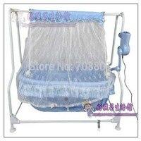 Детские Электрический стальная рама Колыбели детские музыкальные кровать детские качели кровать шокер Колыбели маленьких Колыбели без из