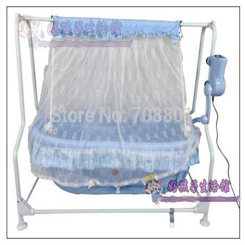 Baby Electric Steel Frame Cradle Baby Music Bed Baby Swing Bed Shocker Cradle Baby Cradle With No Radiation Controller