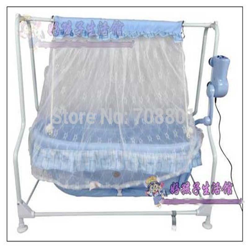 웃 유Baby Electric steel frame Cradle Baby Music Bed baby Swing Bed ...