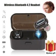 Bluetooth 4,2 наушники СПЦ беспроводной Blutooth наушники гарнитура спортивные игровая гарнитура телефон PK HBQ