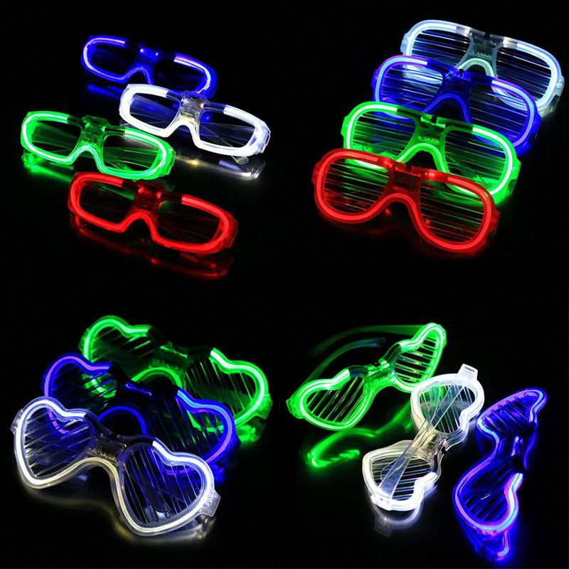LED-glasögon Flash Lysande Blind Eyewear Light Eye Mask Färgglada Glödande Glasögon Bröllop Carnival Dance Bar Party Christmas Toy