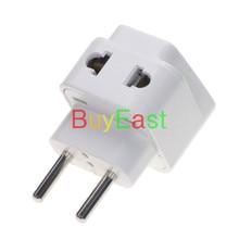 Europlug CEE 7/16 Plug Adapter 2 Outlet Poort Converteren AU/EU/US/UK/China/Japan/...... wereld Plug Witte Kleur