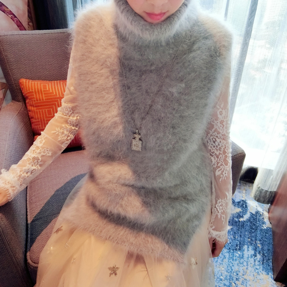 2019 New 100% Genuine Mink Cashmere Sweater Women Cashmere Vest Pure Mink Vest Sweater Customized Free Shipping WSR292