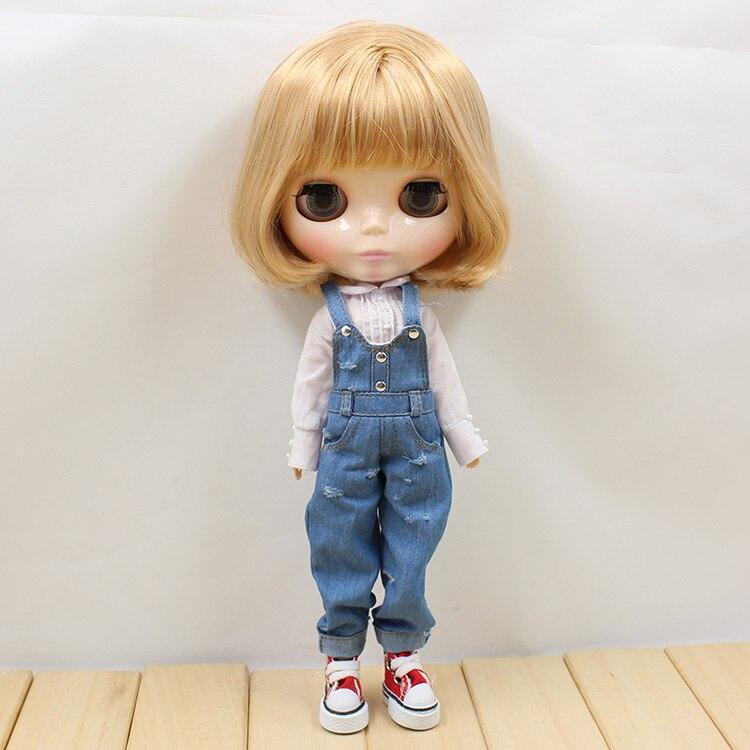 Oyuncaklar ve Hobi Ürünleri'ten Bebekler'de Ücretsiz kargo blyth doll buzlu licca Bronz kısa Saç normal vücut altın saç 150BL2240/3227 parlak yüz'da  Grup 2