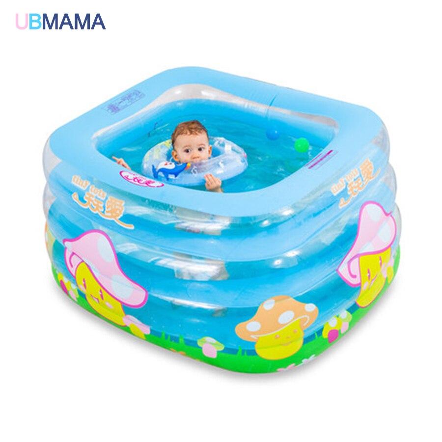 Grand modèle de bande dessinée gonflable carré isolation thermique en plastique gonflable Plaza enfants bain baignoire