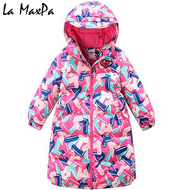 New Brand 2018 Fashion Children's Jackets Coats Solid Cotton-padded Girls Warm Winter Coat Down Jacket Children Jacket 2-7Y Hot new 2017 men winter black jacket parka warm coat with hood mens cotton padded jackets coats jaqueta masculina plus size nswt015
