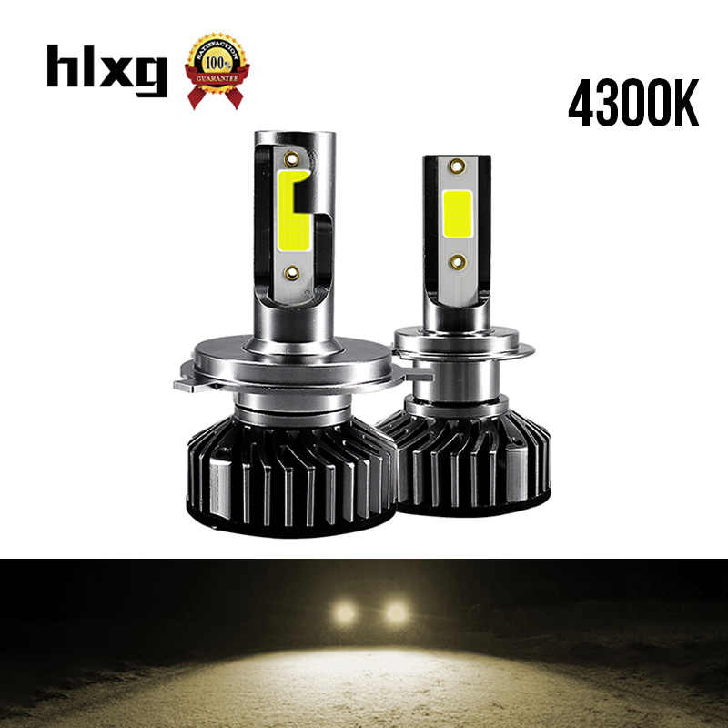 HLXG led h7 h4 h11 car light headlight bulb hb3 hb4 h8 24v turbo automotivo nebbia motorcycle lamp led far 4300k faros led carro