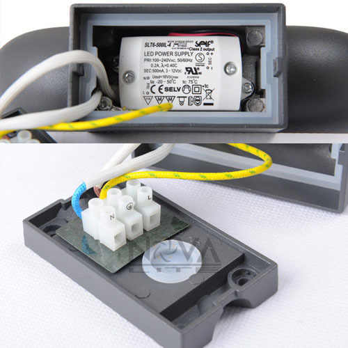 5 W открытый косвенные настенный светильник СВЕТОДИОДНЫЙ Уличный настенный светильник, IP54 наружное бра освещения с острыми COB светодиодный AC230V вход