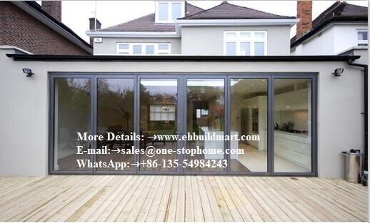 Aluminum Alloy Sheet Patio Door,Folding Door,Bi-Fold Glass Door System Smoothly Maximize The Opening Space,soundproof