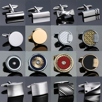 New Arrive Shirt Men steel Laser Engraving Cuff Links For Wedding Party Fashion