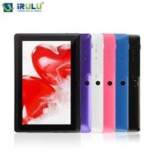 "Irulu expro x1 7 ""tablet pc 8 gb rom android 4.4 quad rdzenia tabletki 1024 * 600hd dual cam wsparcie google play wifi w/screen protector"
