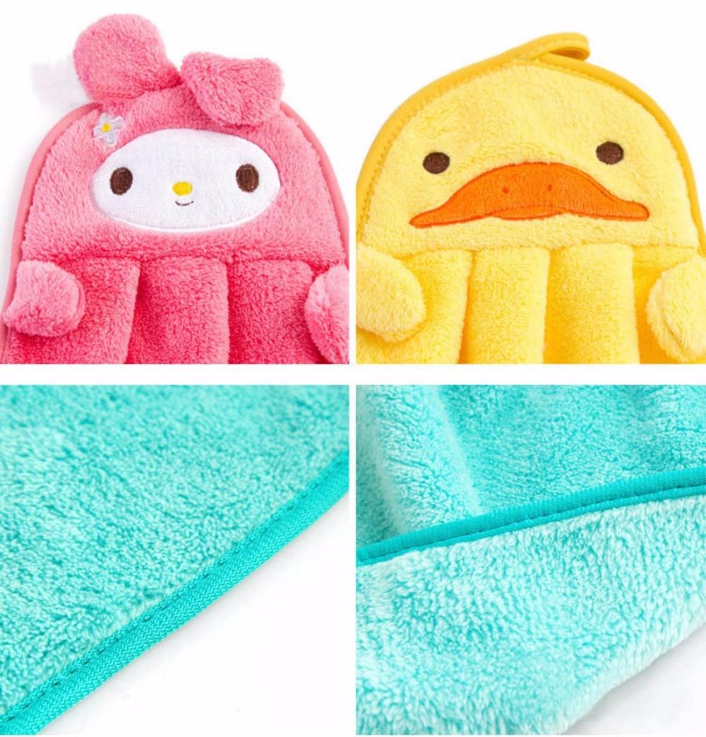 Cute Rags Cartoon Animals Hand Towels Super Soft Powerful Absorbent ...