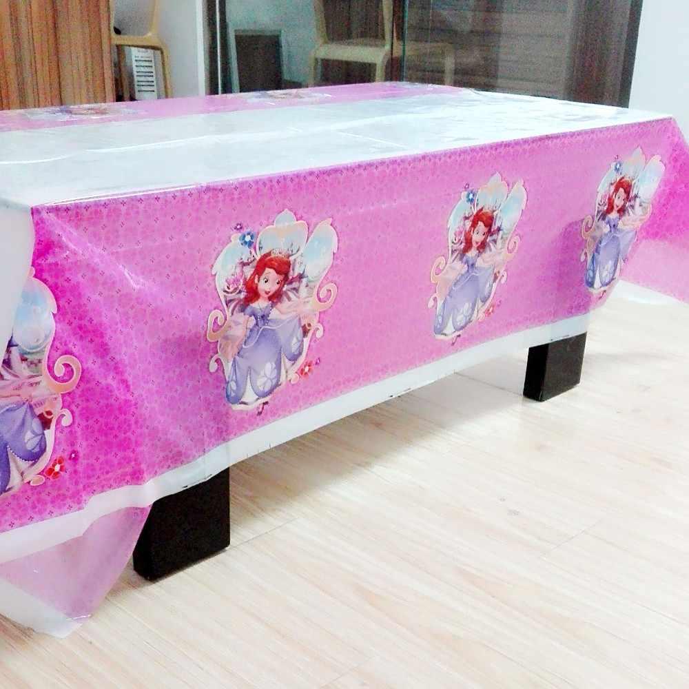 108 Cm * 180 Cm Sofia Perlengkapan Pesta Taplak Meja untuk Anak-anak Gadis Nikmat Pesta Sofia Perlengkapan Ulang Tahun Festival Minion Dekorasi