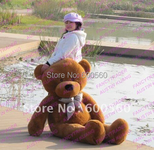 Fancytrader Dark Brown Color 63'' Giant Stuffed Teddy Bear Stuffed Bear Free Shipping FT90059 fancytrader 63 160cm pink color giant stuffed teddy bear plush bear free shipping ft90059