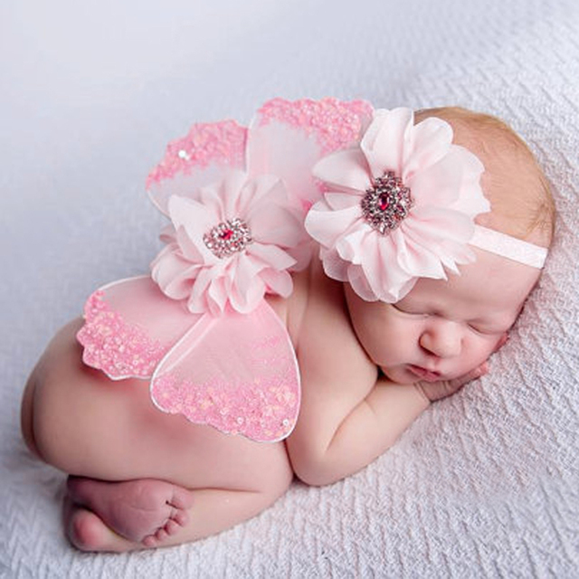 4a2b38dfc Baby Newborn Photography Props Crochet Outfits Knit Butterfly Wings ...