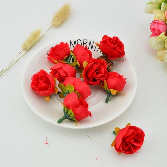 1 Pcs Soie Mini Petit The Rose Fleur Artificielle Pour La Decoration