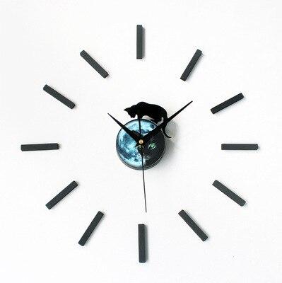 nuovo arrivo misterioso disegno del gatto sticker eva 30 cm 60 cm cucina orologio da