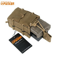 EXCELLENT ELITE SPANKER EDC Outdoor Tactical M4 Double Hunting Magazine Pouch Military Molle Ammo Clip Accessory