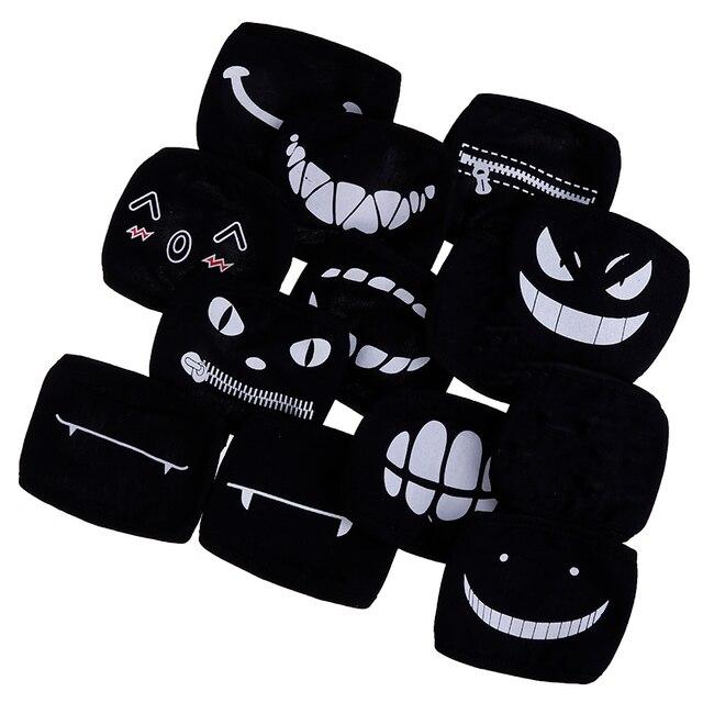 1PC Black Anime Cartoon Kpop Lucky Bear Unisex Muffle Face Mouth Masks Kawaii Cotton Dustproof Mouth Face Mask 12 Styles 1