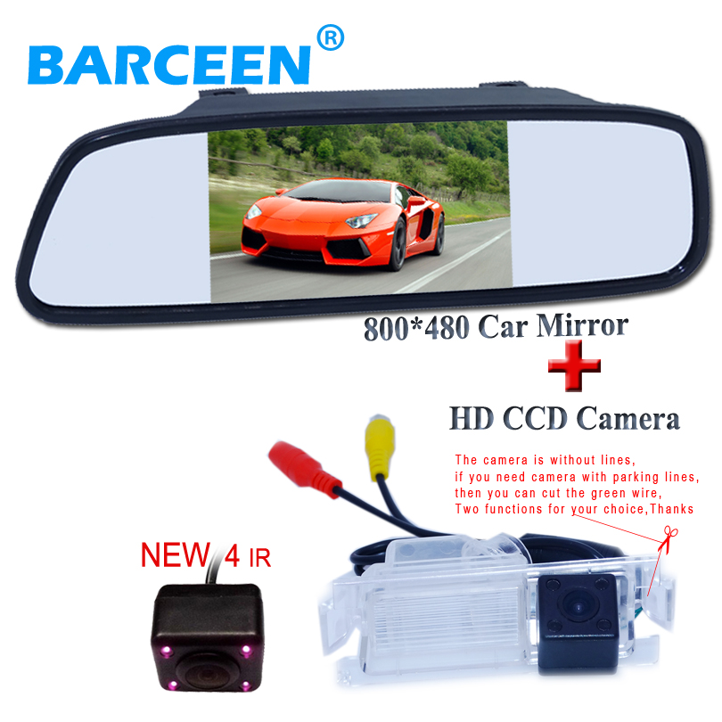 "Suitable for Kia K2 Rio Hatchback 4 ir car rear reversing camera  with lcd hd 800*480 car  mirror monitor  5""wide screen