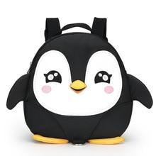 Los Niños de Kindergarten Pingüino de la Historieta Mochilas escolares 2017 Niños Mini Mochila Impermeable Satchel Mochilas para niños y niñas