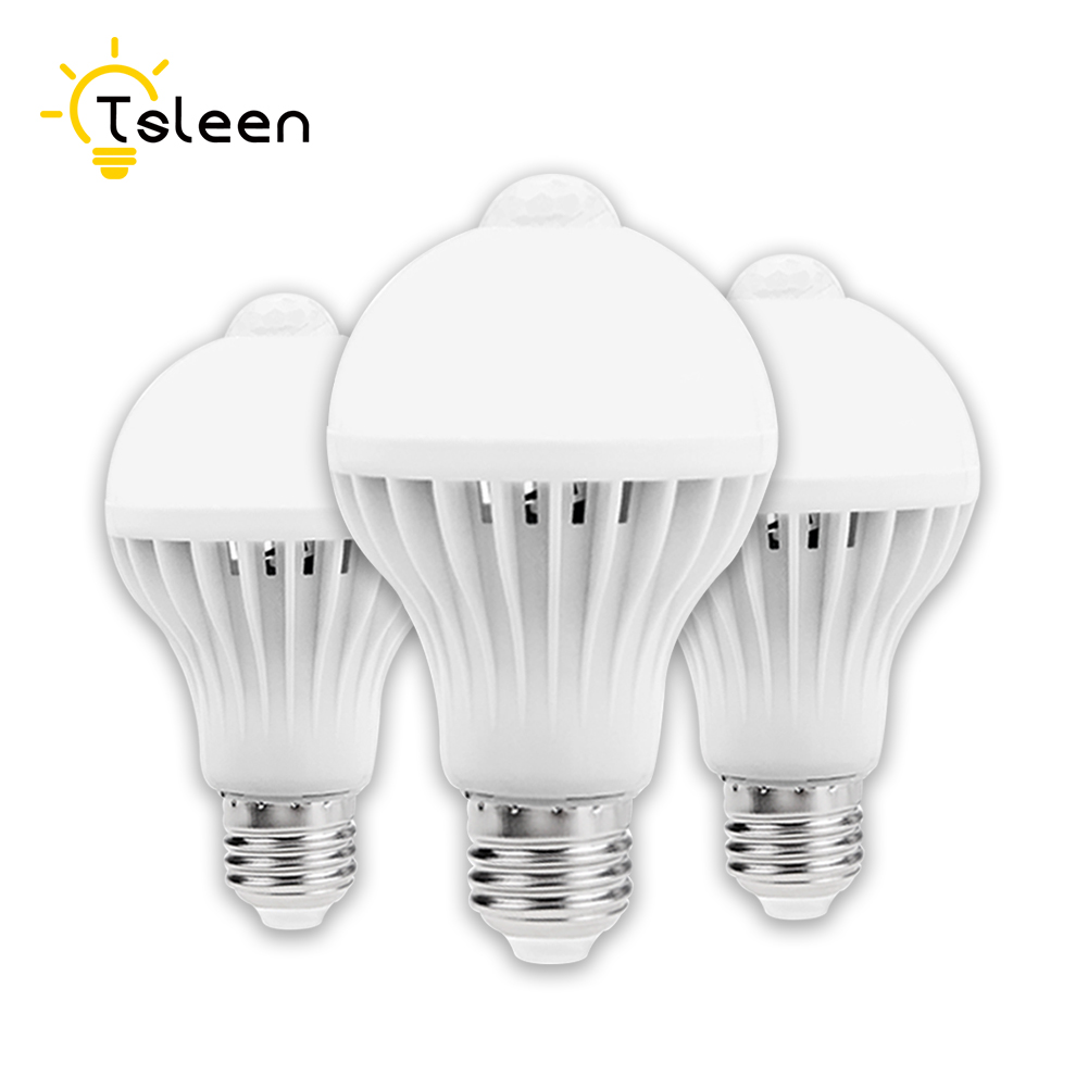 TSLEEN AC 85-265V E27 LED PIR Motion Sensor Lamp 5w 7w 9w Led Bulb Auto Smart Infrared M ...