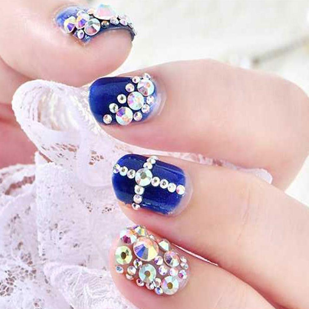 Хрустальные стразы 400 шт 60 цветов украшения для ногтей смешанные размеры ss4-ss12 не горячей фиксации DIY плоские с оборота 3D стеклянные стразы