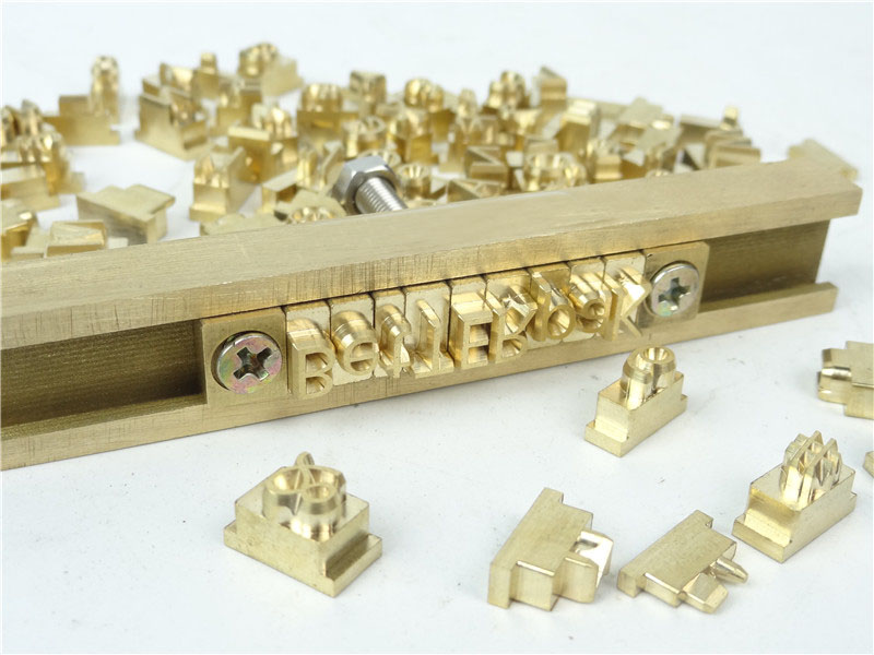 T Type Flexible Hot Foil Stamping Letters,CNC Engraving Mold,RCIDOS Customization Number/alphabet/Hebrew Brass Letters