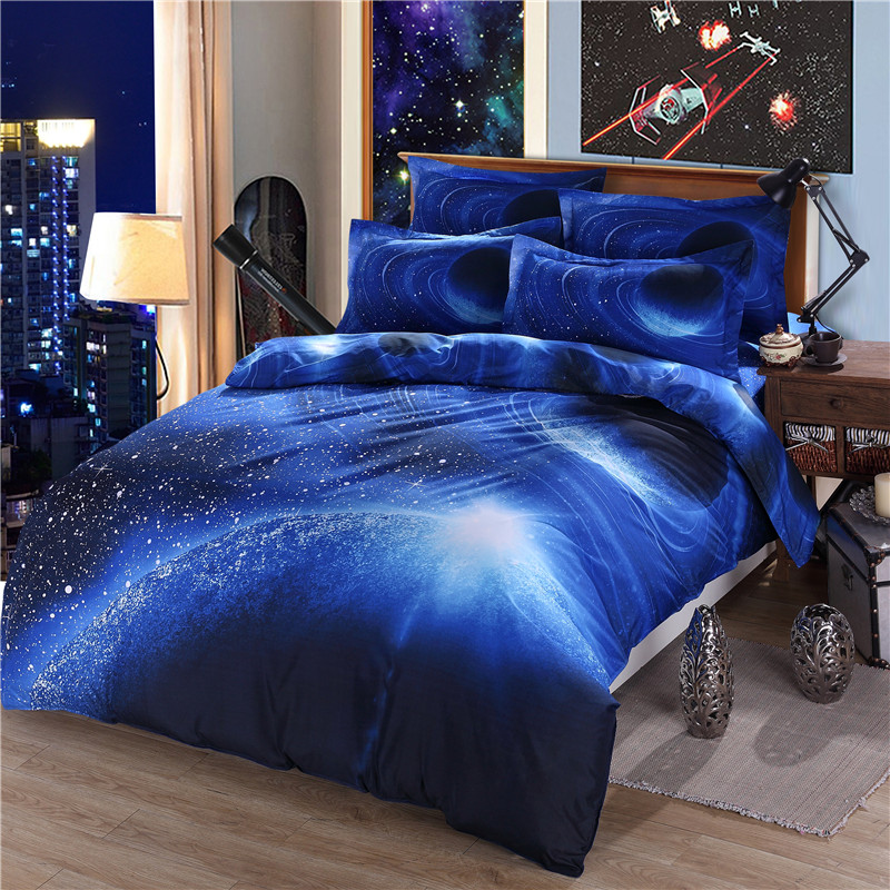 Moon Star Galaxy bedding sets twin full queen size ...