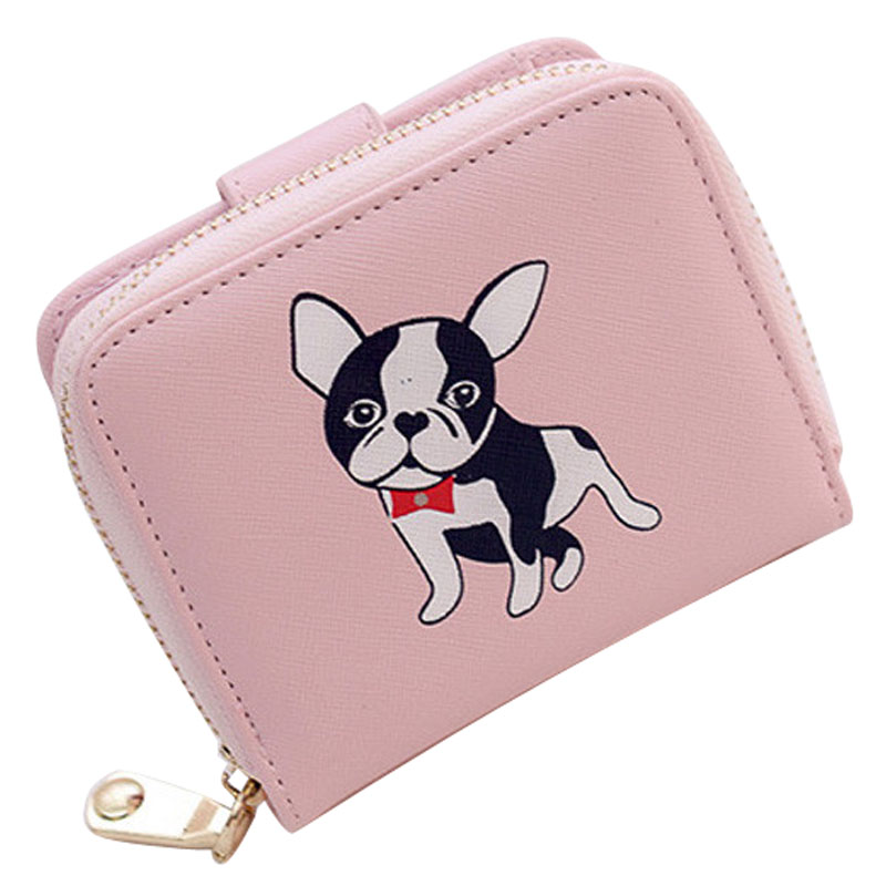 ady Wallet Puppy print Leather Women Short Wallets Ladies Fashion Small Wallet Coin Purse Female Card Wallet Purses Money Bag