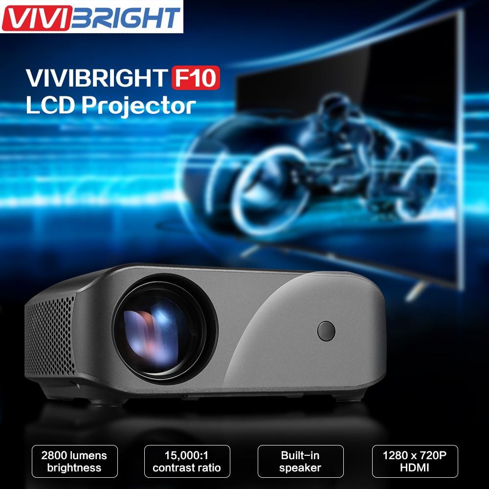 VIVIBRIGHT F10 LCD projecteur 1280x720 P 2800 lumens 300 pouces affichage divertissement à domicile vidéo projecteur 3D HD vidéo projecteur - 1