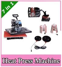 NEW 7 IN 1 Tshirt Mug Cap Plate Combo heat press machine Heat press Sublimation machine