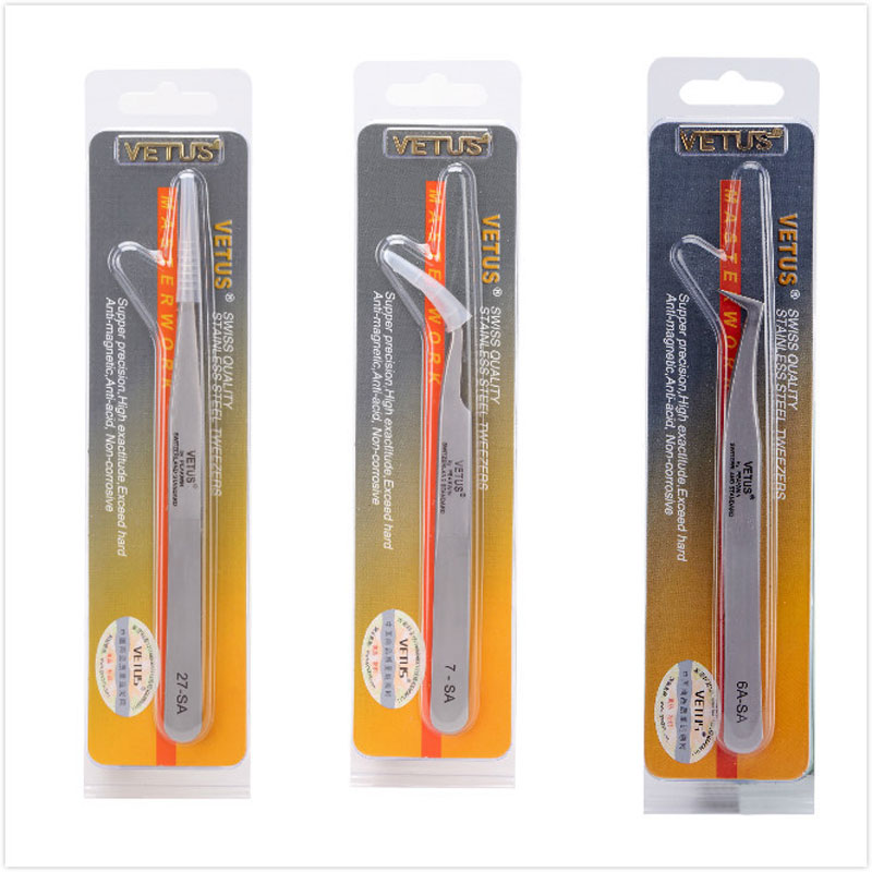 100% Brand Stainless Steel Anti-static Eyelash Tweezers Superhard Eyelash Extension Tool Best Quality Tweezer Modern Techniques Back To Search Resultstools Hand Tools