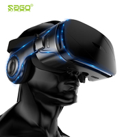 Sago Augmented Reality glasses 3D Smartphone AR Mobile Box Headset Virtual Reality VR helmet Film AR Video Game with remote