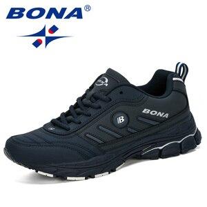 Image 5 - BONA 2019 ฤดูใบไม้ผลิฤดูใบไม้ร่วงรองเท้าผู้ชาย Running Breathable กีฬากลางแจ้งรองเท้า Zapatos วิ่งสบายรองเท้าผ้าใบชาย