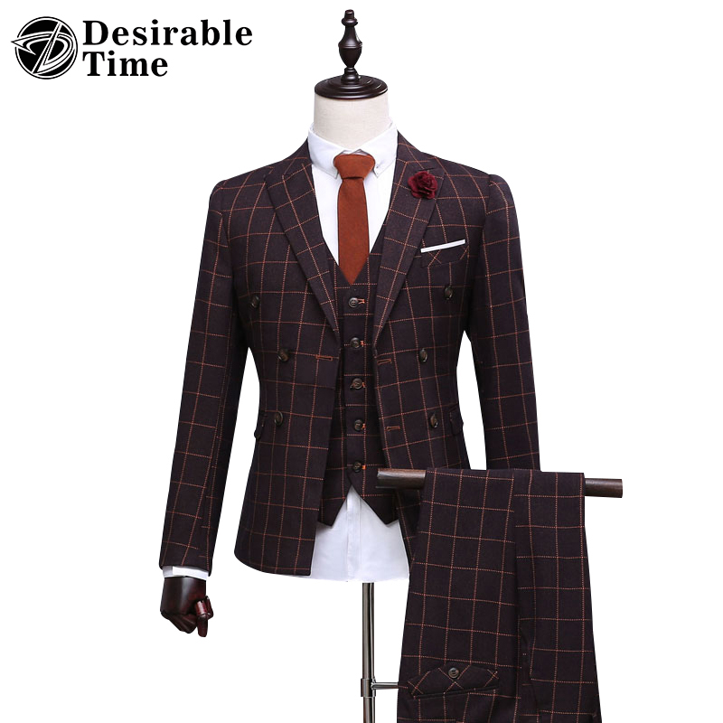 Aliexpress.com : Buy Custom Made Men Slim Fit Double Breasted Suit ...