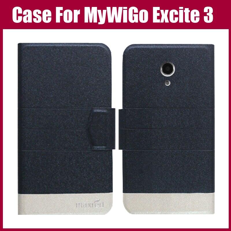 ¡ Venta caliente! para Excitar MyWiGo 3 Caso de la Alta Calidad 5 Colores de Moda Flip ultra-delgada Cubierta Protectora de Cuero Teléfono Bolsa