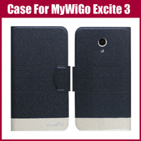 Hot Sale! For MyWiGo Excite 3 Case High Quality 5 Colors Fashion Flip Ultra-thin Leather Protective Cover Phone Bag