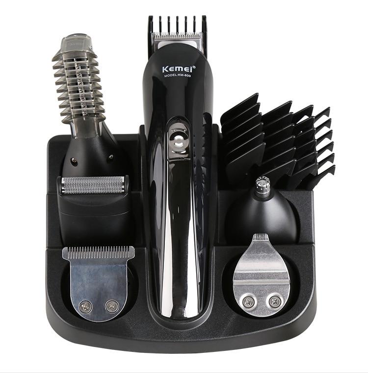 100-240V kemei hair trimmer 6 in 1 hair clipper electric shaver beard trimmer men styling tools shaving machine for barber 4