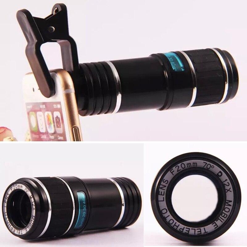 Universal Clip 12X Zoom Téléobjectif Télescope Téléphone Objectif pour HTC ONE M9 M8 M7 HTC 10 EVO G3 G4 G5 G6 SE V10 V20 G4 G5 mini