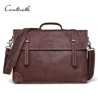 Vintage Crossbody Bag Genuine Crazy Horse Cowhide Leather Shoulder Bags Men Messenger Bag Men Leather Handbag