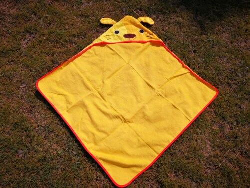Детское банное полотенце с квадратным капюшоном с изображением совы и лисы/пляжные полотенца для детей - Цвет: Dog