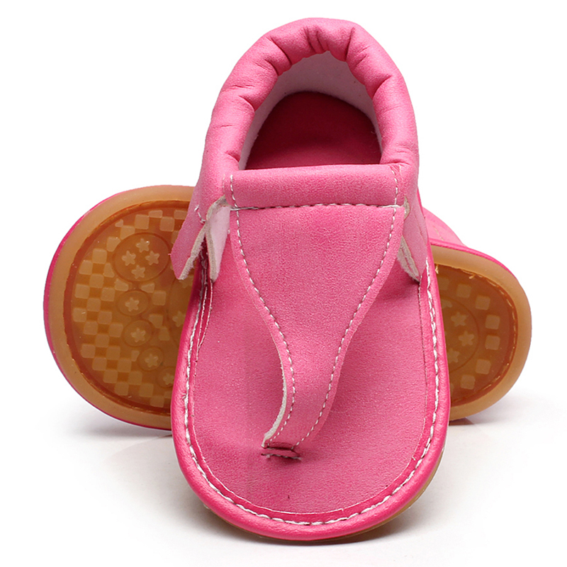 Baby Girl Sandals  New Summer Shoes Baby Flats PU Leather Baby Shoes Rubber Sole Girl Floral Sandals Fit For 0-12M