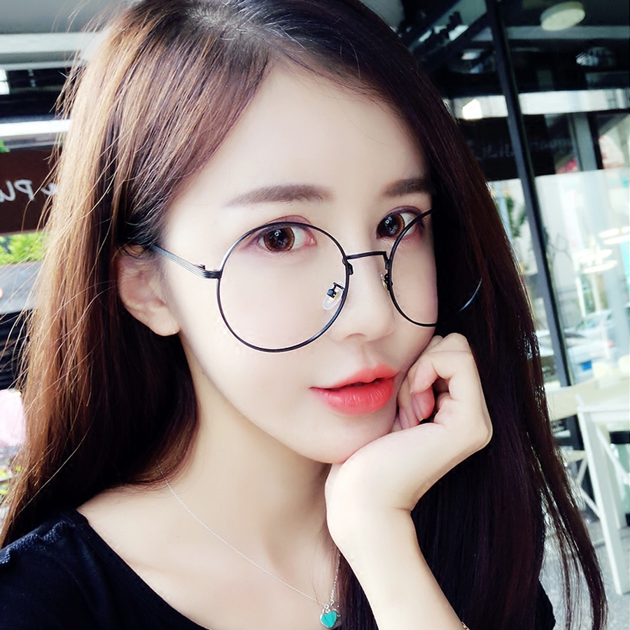 MOLGIRL New Fashion Homens Mulheres Optical Óculos Grandes Retro Rodada  Quadros de Óculos de Marca Óculos de Vidro Transparente Azul Diafragma efc3647730