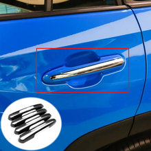 ABS Carbon fibre For Toyota RAV4 2019 accessories Car door protector Handle Decoration Cover Trim Sticker Car Styling 4pcs window deflector for mitsubisi pajero 2 1990 2004 rain deflector dirt protection car styling decoration accessories molding